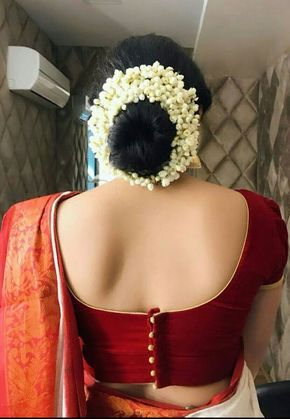 Latest Saree Blouse Back Neck Designs | Saree blouse designs .