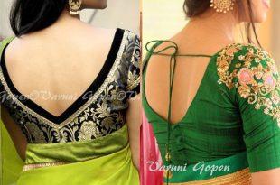 30+ Trendy Blouse Back Neck Designs For Silk Sarees | Blouse neck .