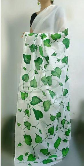 20 Beautiful Saree Painting Design Ideas | Saree Gui