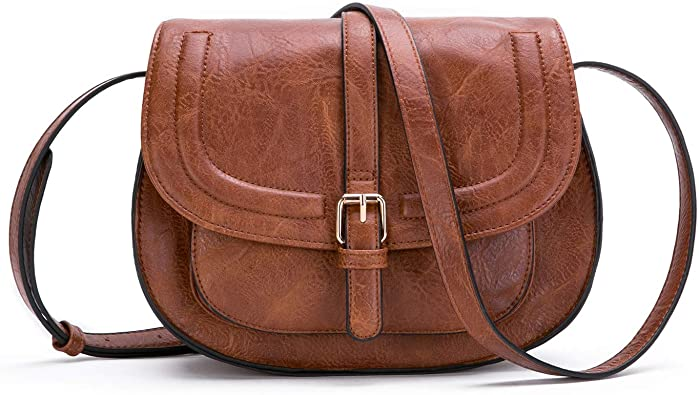 Crossbody Bags for Women, Small Saddle Purse and Satchel Handbags .