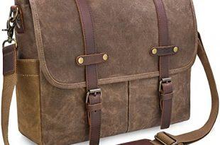 Amazon.com: Mens Messenger Bag 15.6 Inch Waterproof Vintage .