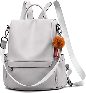 Amazon.com: Women Backpack Purse PU Leather Anti-theft Casual .