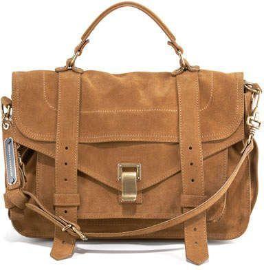 Proenza Schouler PS1 Medium Suede Satchel Bag in 2020 | Trendy .