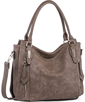 Amazon.com: Handbags for Women Shoulder Tote Zipper Purse PU .