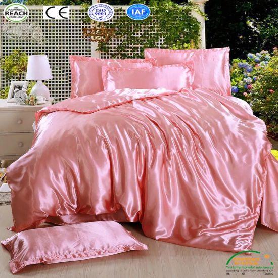 China 2018 New Design Superior Quality Satin Bedding Set Queen .