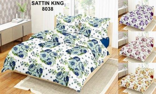 Multicolor Designer Satin Bed Sheet, Packaging Type: Packet, Rs .