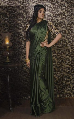 Casual Wear Silk Jacquard Satin Saree, Length: 6.3 m (with Blouse .