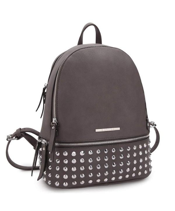 Casual Backpack Purse School Bag Vegan Leather Shoulder Bag .