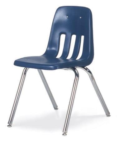 Virco 9000 Series 4 Leg Stackable School Chair - Carton of 4 .