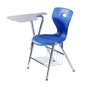 Plastic Blue School Chairs with Tablet Arm /Armrest, View school .