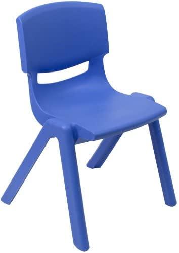 Amazon.com: Flash Furniture Blue Plastic Stackable School Chair .