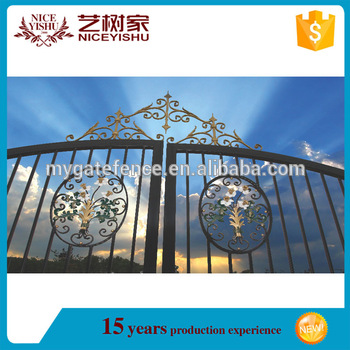 design of school gate/sliding iron main gate design/iron gate .