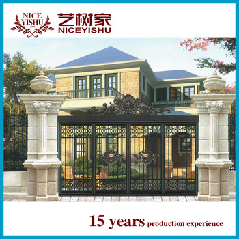china latest decorative rustic antique aluminum school main gate .