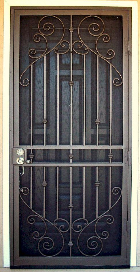 Custom Security Doors Phoenix | Door | Security door, Wrought iron .
