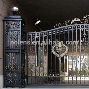 Modern Metal Wrought Iron Gates/best Price High Protected Security .