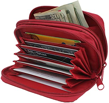 Amazon.com: HDE Women RFID Zip Around Wallet Security Travel .