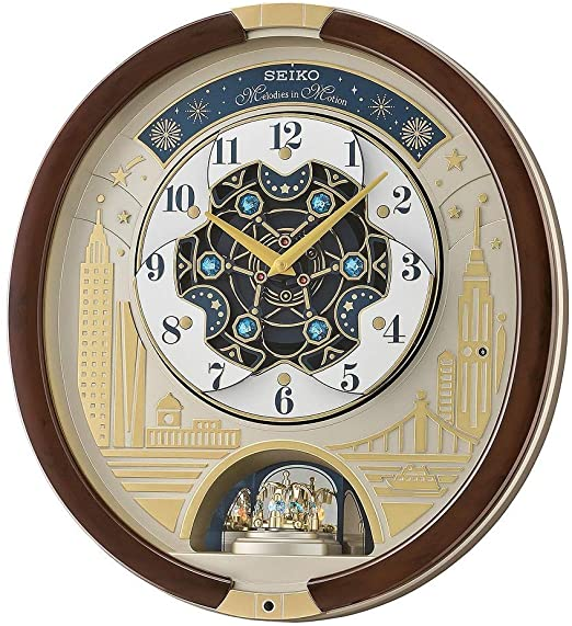 Amazon.com: SEIKO Swarovski Melody in Motion Wall clock-2019 .