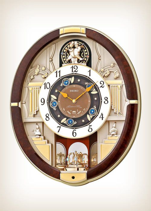 Seiko QXM289B Golden Trumpets Melody in Motion (With images .