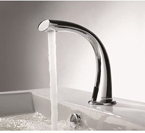 Bravat Twisted Design Electronic Touchless Motion Sensor faucet .