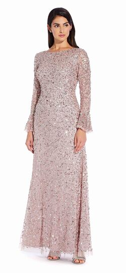 Long Sequin Dress with Long Bell Sleev