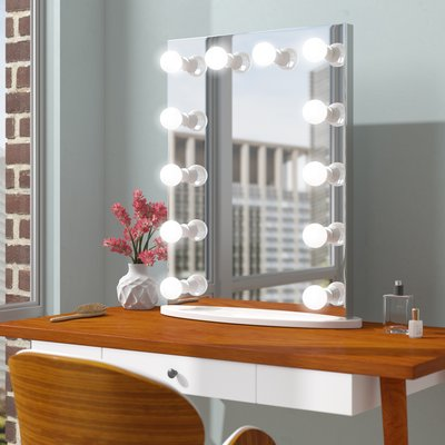 Symple Stuff Laleia Makeup/Shaving Mirror | Shaving mirror, Accent .