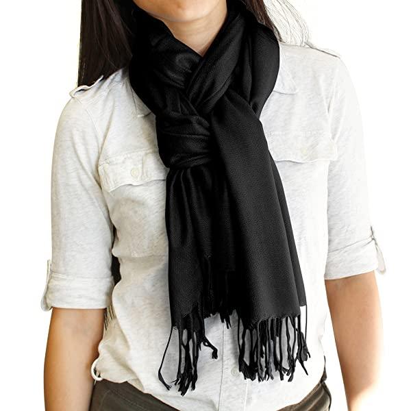 Soft Pashmina Scarf for Women Shawl Wrap Scarves Lady Women's .