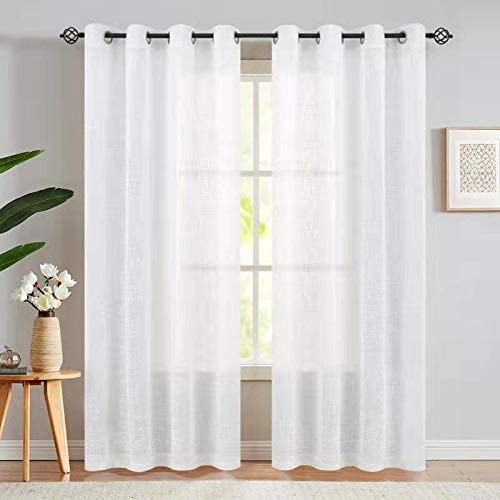 Amazon.com: Open Weave Sheer Curtains for Living Room Grommet Top .