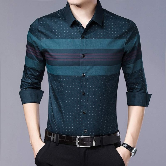 2019 social long sleeve striped designer shirts men slim fit .