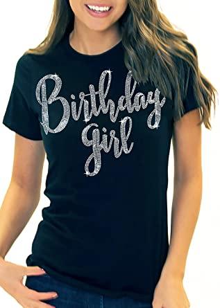 Amazon.com: RhinestoneSash Birthday Girl Shirt for Women .