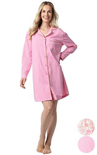 Addison Meadow Sleep Shirts for Women - Woven Cotton Flannel Sleep S