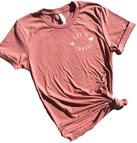Amazon.com: Let's Travel Tee, Cute Vacation Shirts for Women .