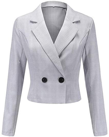 Amazon.com: AK Beauty Women's Short Blazer Jacket Notch Lapel .