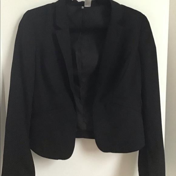 H&M Jackets & Coats | Hm Short Black Blazer | Poshma