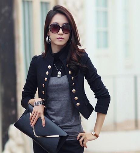 free shipping blazer women2015Korean Women OL long sleeve double .
