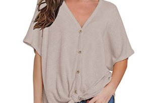 Short Sleeve Blouses: Amazon.c