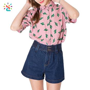 Wholesale Models Women Formal Blouses Ladies Chiffon Short Sleeve .