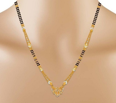 30 Latest Short Gold Mangalsutra Designs (With images) | Gold .