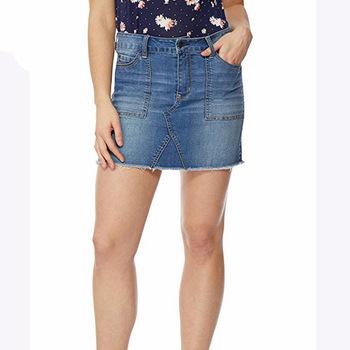 Mini sexy jeans short skirt no underwear denim skirts for women .