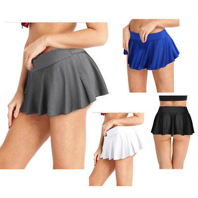 Sexy Womens Tennis Plain Skater Pleated Skorts Mini Short Skirts .