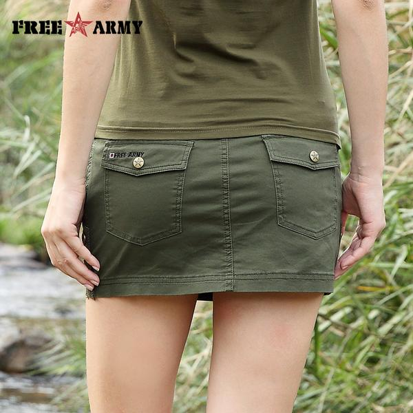 New Sexy Mini Skirt For Women Summer Military Fashion Mid Waist .