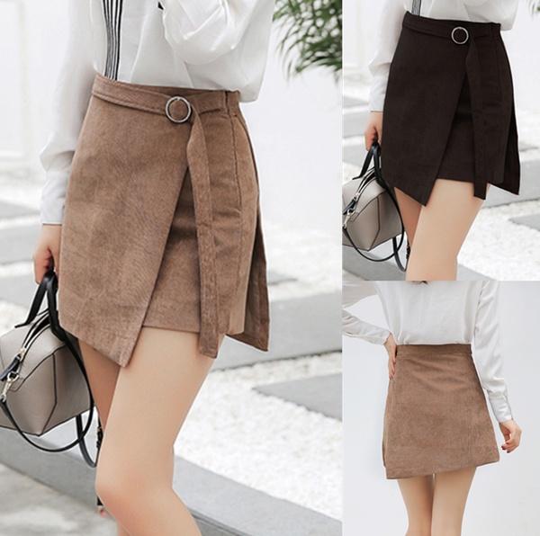 New Fashion Slim Women Bandage A-line Skirt New Korean Short Skirt .