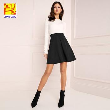 Women Skirts Casual Custom Curve Hemline Short Skirt - Buy .