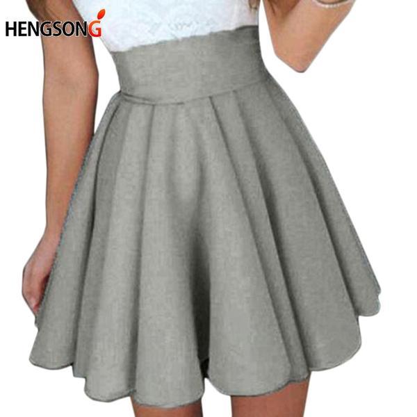 Short Skirt For Women New All Fit School Skirt Black Grey Color .