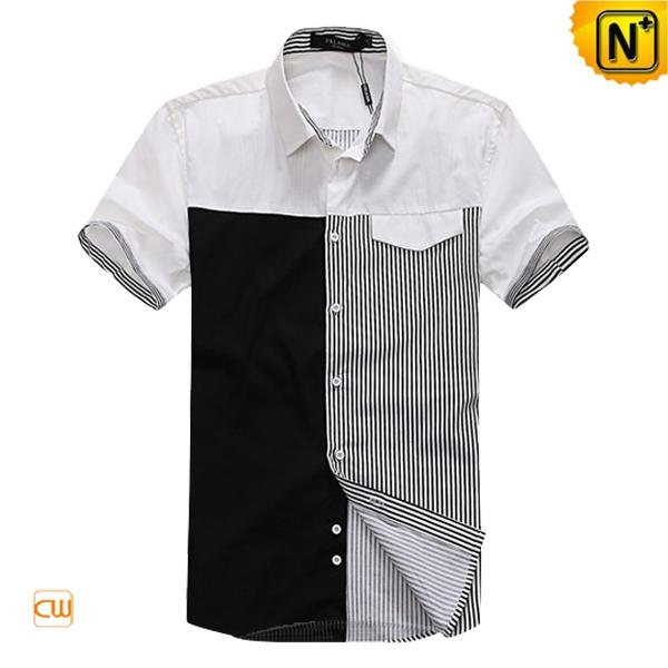 Men's Fashion Matching Design Shirts Short Sleeve CW100323 | CWMAL