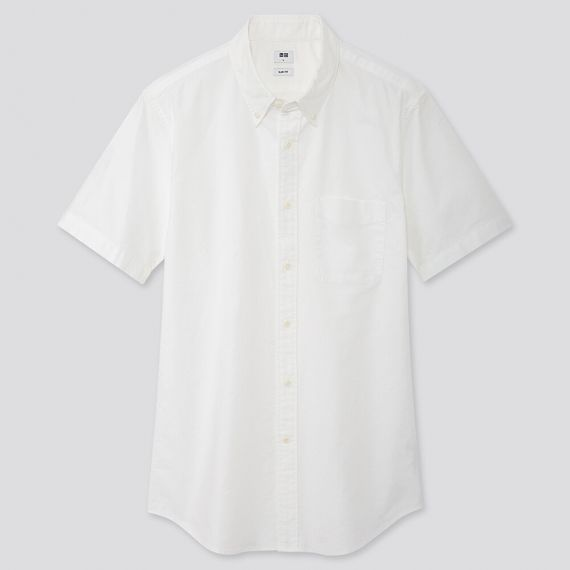 MEN Oxford Slim Fit Short Sleeve Shirt - Casual Shirts - TOPS .