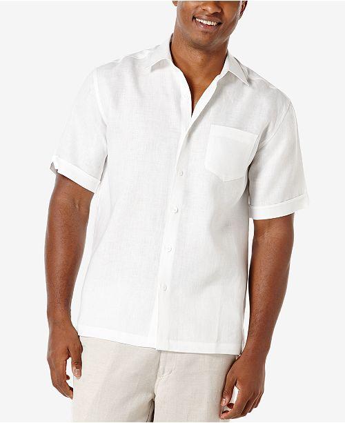Cubavera Men's 100% Linen Short-Sleeve Shirt & Reviews - Casual .