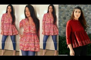 Short Kurta Tops For Girls Designs 2018 | Tunics for Women .