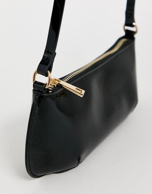 ASOS DESIGN mini 90s shoulder bag in patent | AS