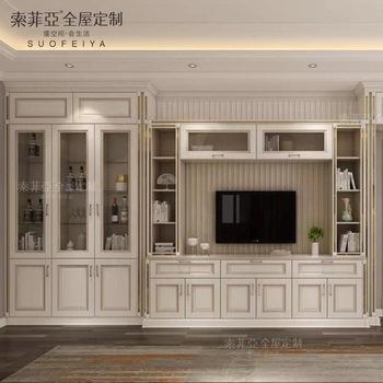Custom Design Wooden Furniture Living Room Hall Tv Showcase .