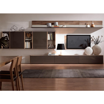 Living Room TV Showcase Designs, Wood Veneer TV stand, View TV .